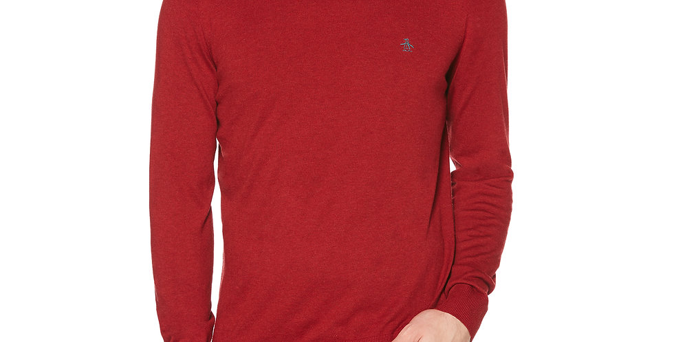 Original Penguin - Supima Cotton Crew Neck Jumper - Biking Red
