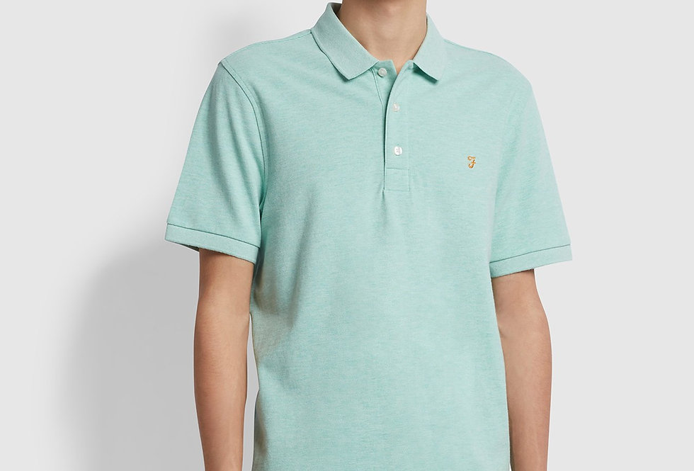 Farah - Blanes Slim Fit Polo - Green Crest Marl