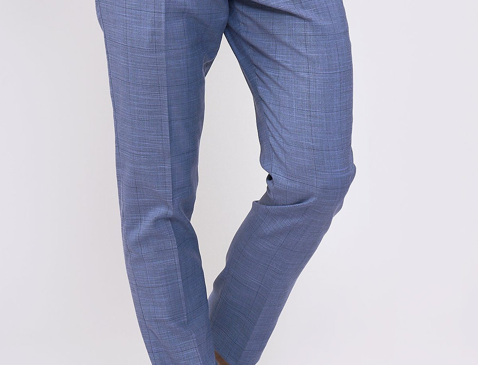 Marc Darcy - SID - Blue Grey Check Trousers