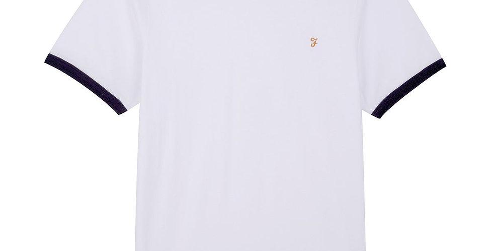 Farah - Groves Slim Fit Ringer T-Shirt - White