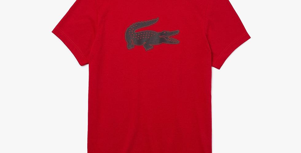 Lacoste - 3D Print Crocodile T-shirt - Red