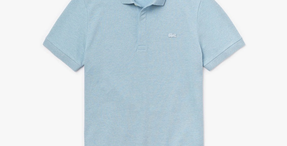 Lacoste Paris Polo Shirt Regular Fit Stretch Cotton Piqué - Light Blue