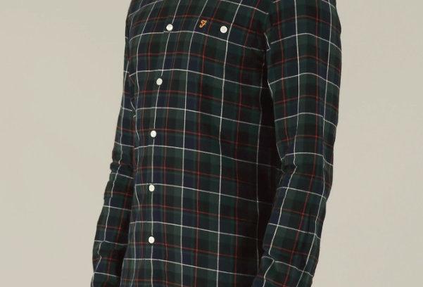 Farah - Oldman Long Sleeve Check Shirt - Topiary