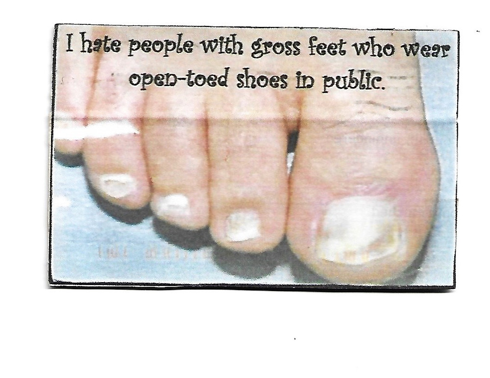Grossed out by feet
