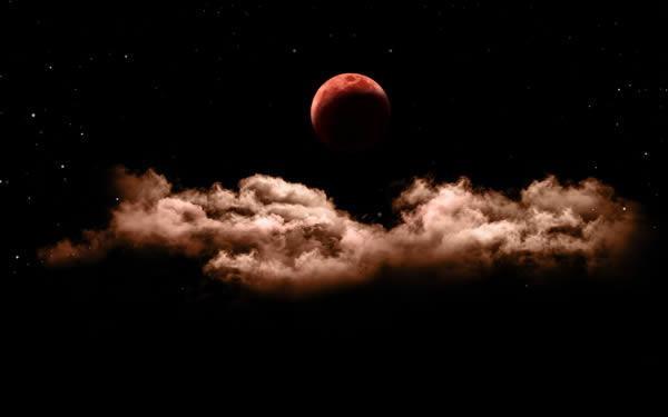 "Partial Lunar Eclipse ""Bloody Moon"""