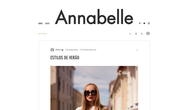 Blogs e Fóruns website templates – Blog de Personal Style