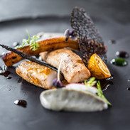 Grilled Salmon - Squid Tuille