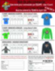 TBB 2019 Bon de commande pour T-Shirt Order Form