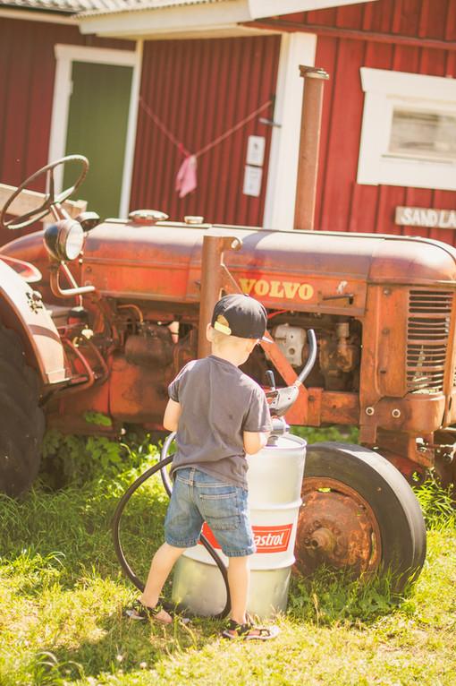 Tankar traktorn