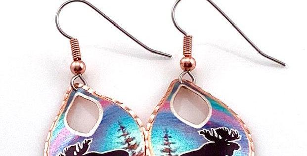 Moose Earring in Copper