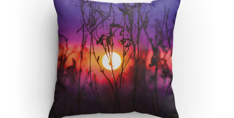 Sunset in Purple Pillow