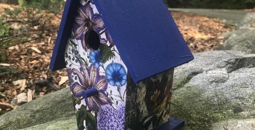 Violets are Blue Birdhouse