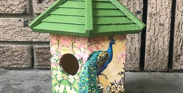Peacock Birdhouse