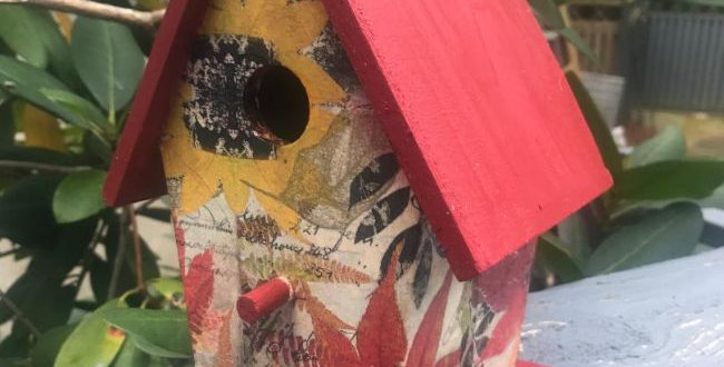 Fall Motif Birdhouse