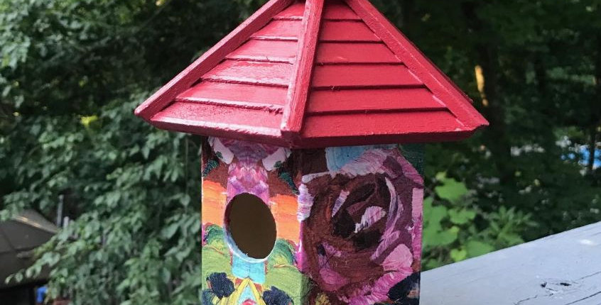 Love is a Rose Birdhouse