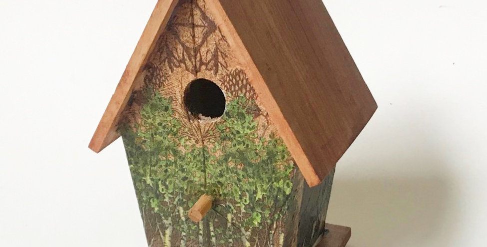 Forest and Bear Birdhouse