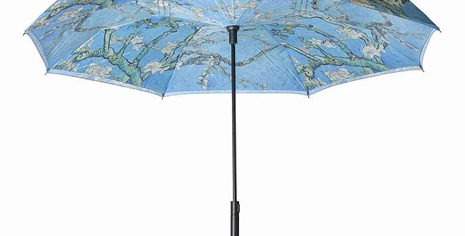 Van Gogh Almond Blossom Reverse Close Umbrella