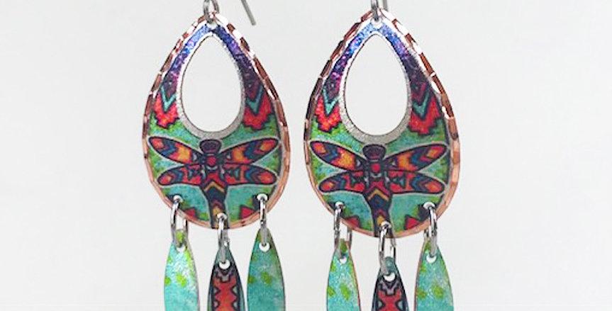 Dragonfly Earring in Copper