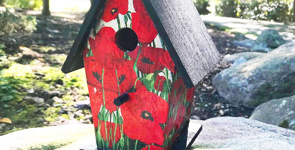 A Frame Poppies Birdhouse