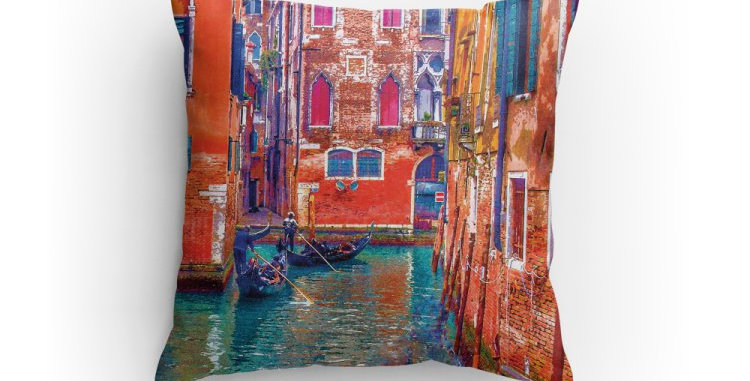 Venice Art Pillow
