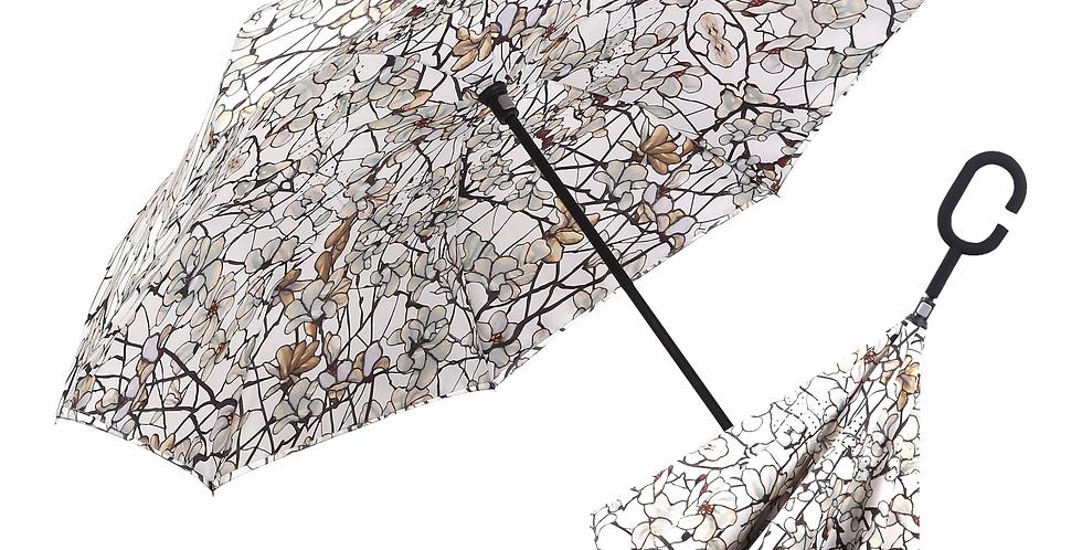 Tiffany Magnolia Reverse Close Umbrella