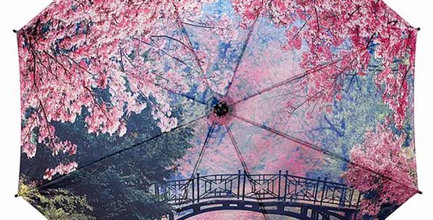 Cherry Blossom Folding Umbrella