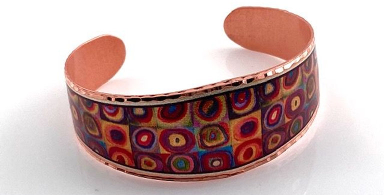 Geometric Copper Bracelet