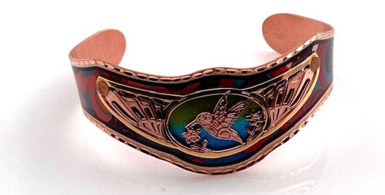 Hummingbird Copper bracelet