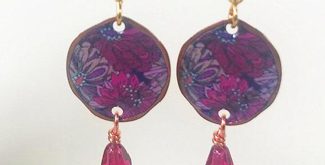 Small pink flower earring