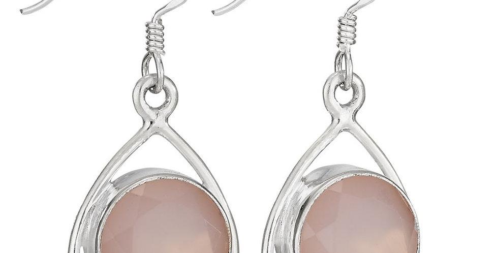 Rose Quartz Sterling Earring