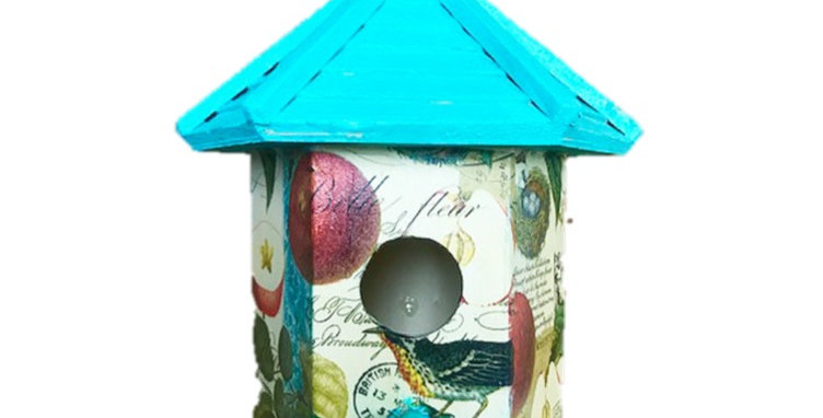 Bird and Apple Birdhouse