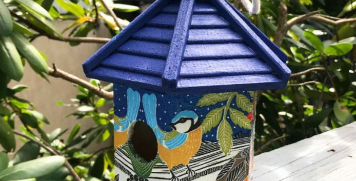 Evening Birdhouse