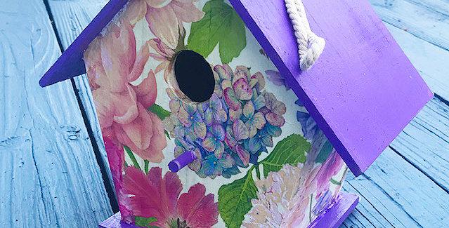 Large Spring Floral Birdhouse