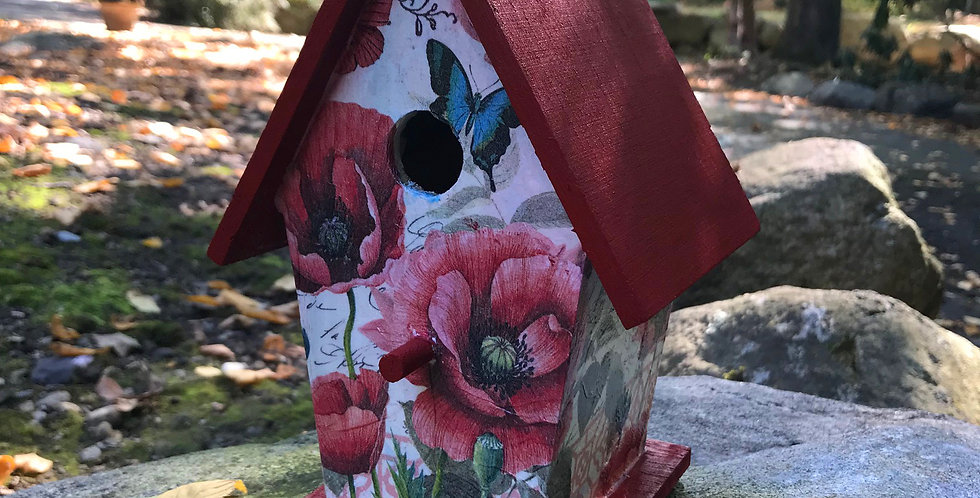 Flower and Butterfly Birdhouse