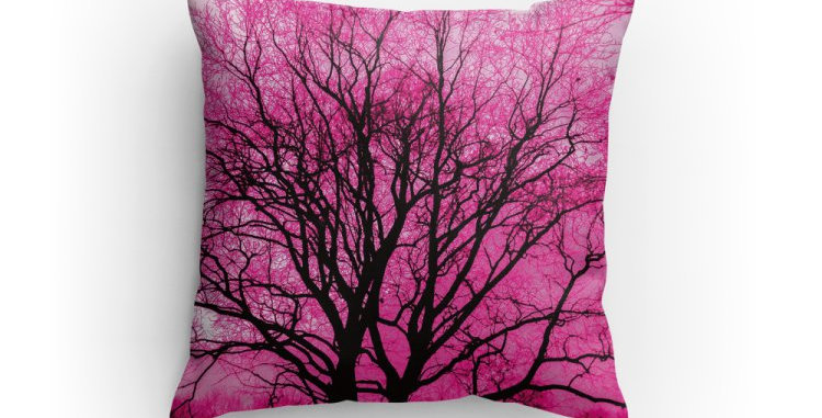 Tree in Pink Pillow