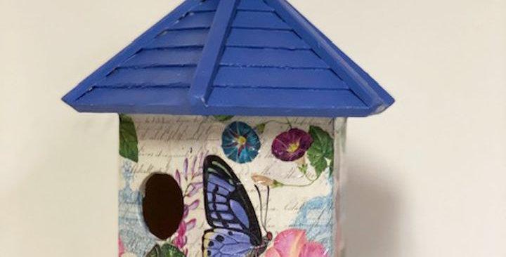 Purple Butterfly Birdhouse