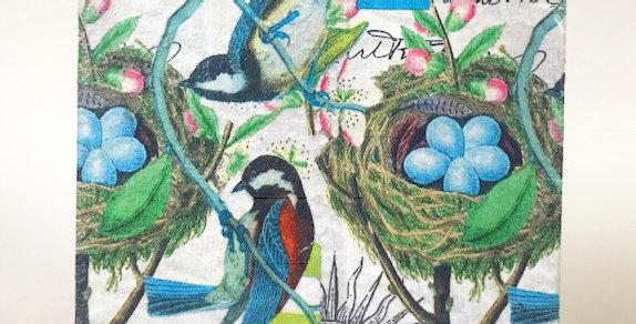 Blue Bird trivet Set