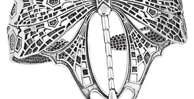 Dragonfly Cuff Bracelet in Sterling Silver