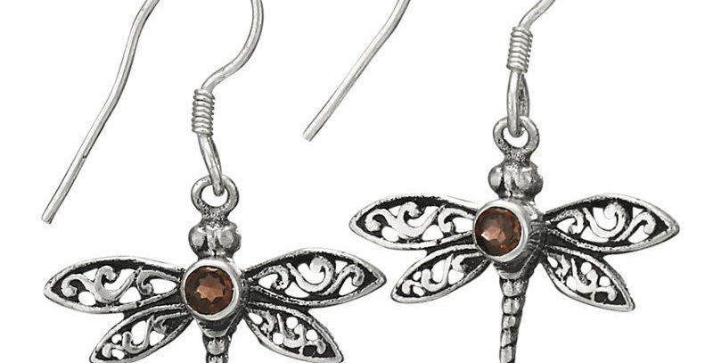Sterling Dragonfly Earring