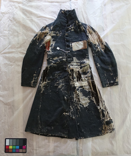 The conservation of Colonel Eugene Whitfield's great coat from Shiloh National Battlefield, National Park Service.