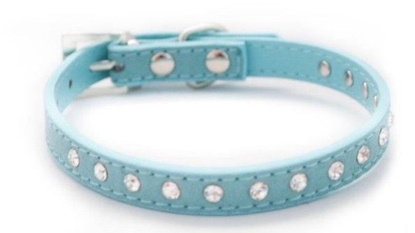 Wagytail Blue Diamante Collar L