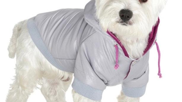 Grey Pathfinder Insulated Panel Dog Coat Size Medium