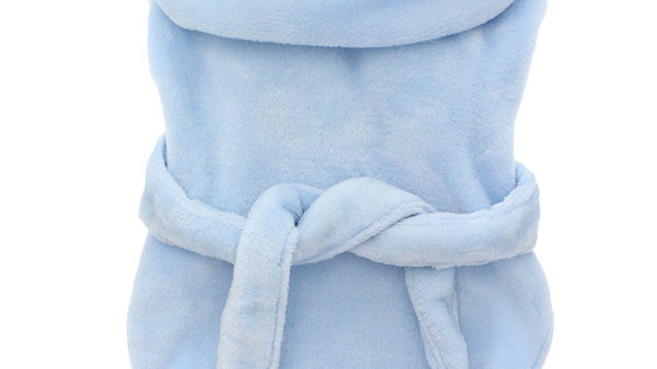 Urban Pup Blue Plush & Fluffy Terry Dog Bathrobe M