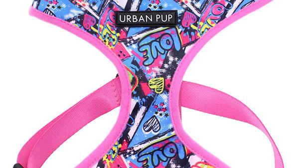 Urban Pup Pink Graffiti Dog Harness L