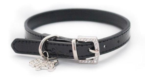 Wagytail Black Mock Croc Collar XL