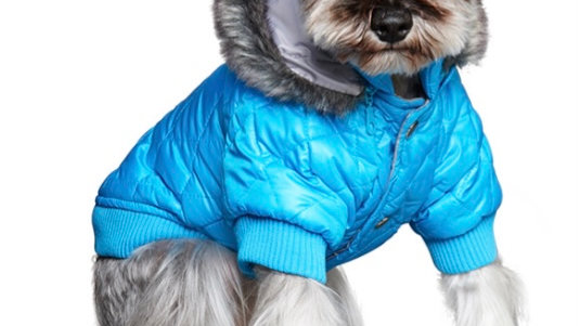Thermo Blue Quilted Dog Parka Size L