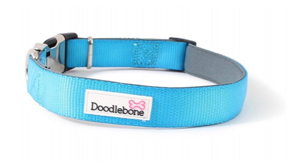 Doodlebone padded collar cyan S