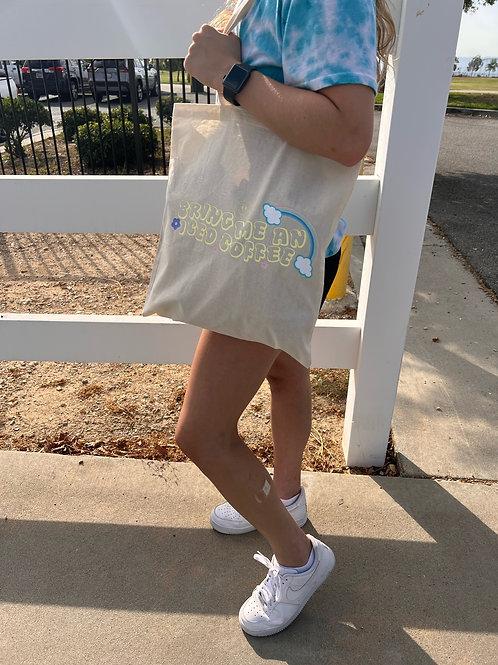 Iced Coffee Tote Bag