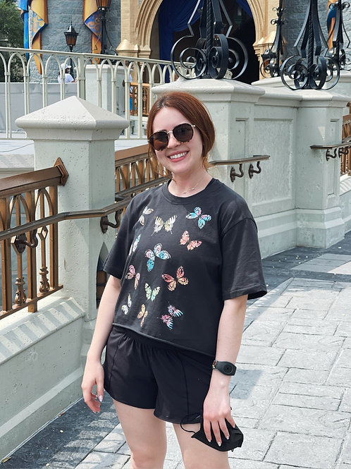 Cropped Butterfly T