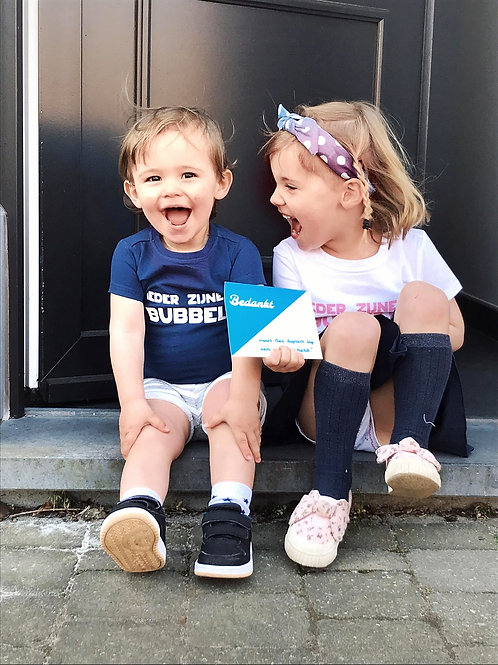 Ieder zijnen bubbel T-shirt - Baby en kids